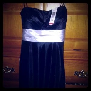 Macy's Party Dress Black Sequins new